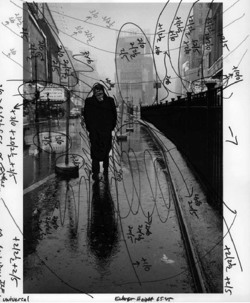 James Dean by Dennis Stock - Printing notations by Pablo Inirio