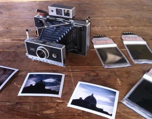 La zia Polaroid pieghevole