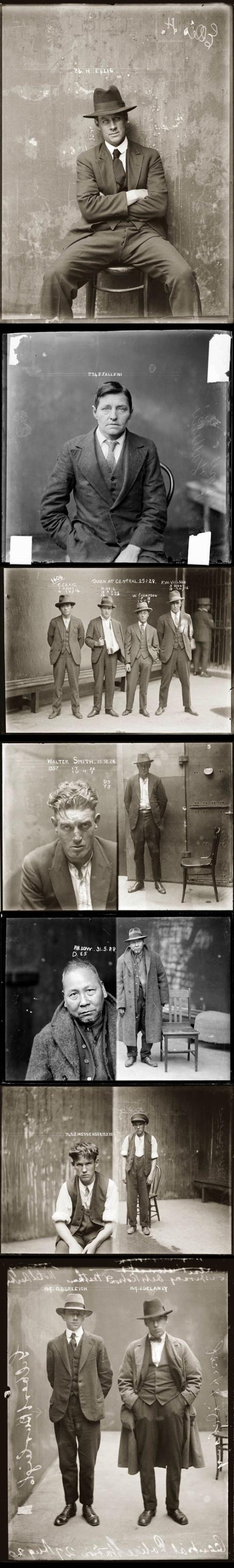 Foto segnaletiche, anni 20