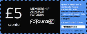 Coupon di Sconto per Fotoura Membership