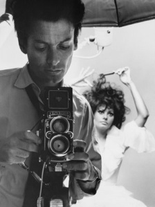Selfie d'autore #2: Richard Avedon con Sofia Loren