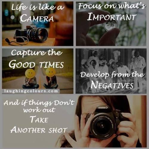 la vita è come la macchina fotografica