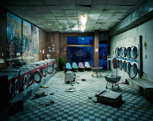 Laundromat at Night