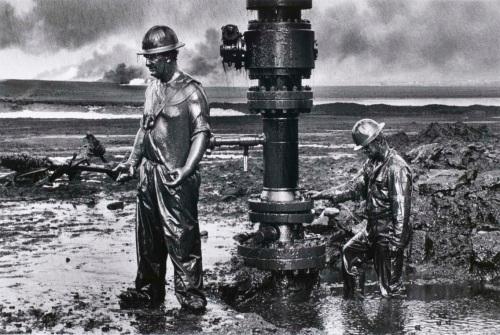 Oil workers by Salgado