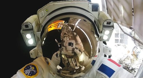 Space selfie by gopro