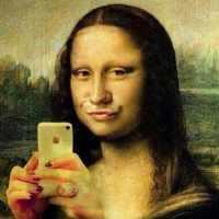 selfie La Gioconda