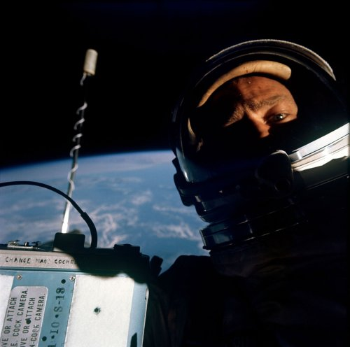 Space selfie Aldrin